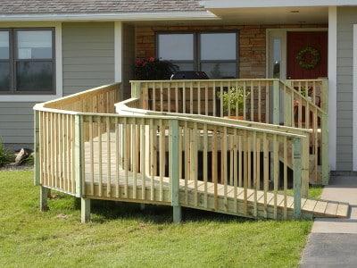 Green treated deck Hammond WI