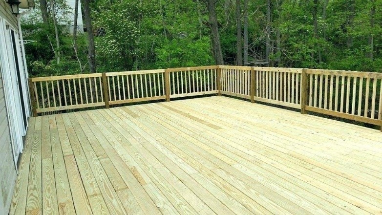Brown Treated Deck